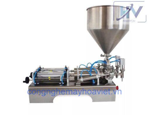 Thông số kỹ thuật: – Điện áp: 220V/50Hz – Công suất: 50W – Dung sai định lượng: ≤ ± 1% – Áp suất khí: 0.4-0.6 Mpa – Tốc độ chiết rót: 10-50 sản phẩm/phút – Khoảng định lượng chiết: 5-10 / 10-100 / 30-300 / 50-500 / 100-1000 / 250-2500 / 300-3000 / 500-5000 ml – Bộ phận tiếp xúc với sản phẩm: inox – Mức tiêu thụ khí: ≥0.1 m3/phút – Bảo hành: 12 tháng
