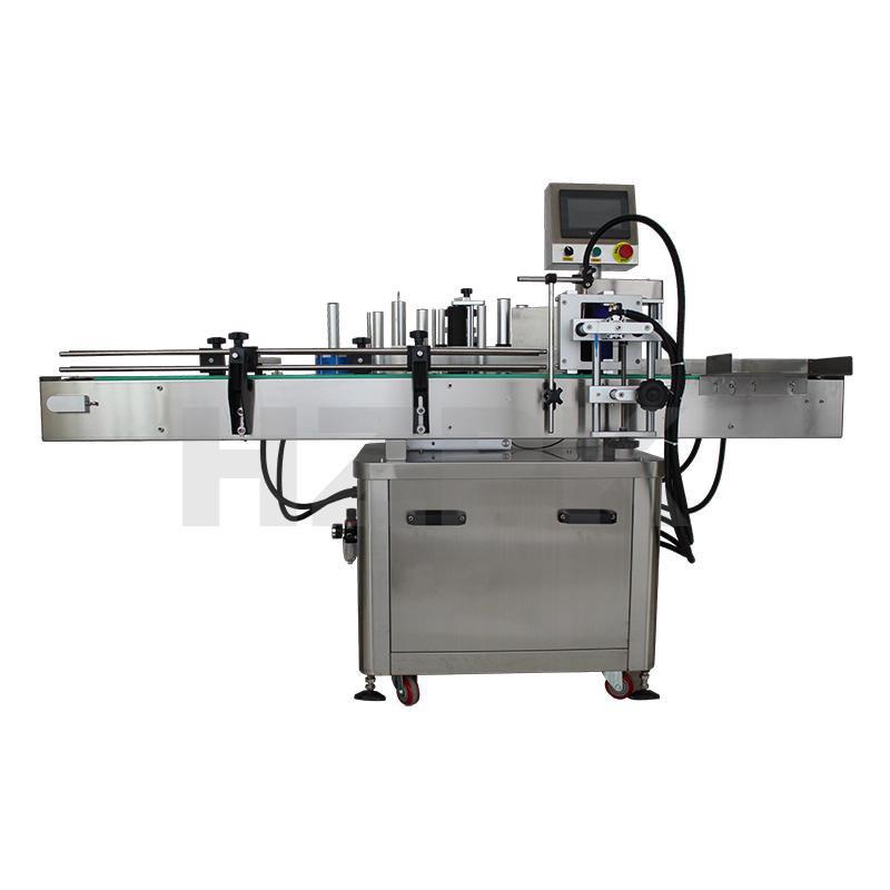 Thông số kỹ thuật:   Điện Áp: AC 220V/110V 50-60hz  Công Suất: 550W  Động cơ dẫn động: Động cơ bước  Thao tác: Để sát phải  Tốc độ dán nhãn: 10-30 chai/phút  Độ chính xác: ±1 (mm)  Đường kính cuộn dán nhỏ nhất: 75mm  Đường kính cuộn dán lớn nhất: 260mm  Đường kính chai: 30-150mm  Kích thước nhãn: W 20-150mm, L 30-200mm